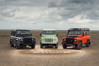 Land Rover launches year of Defender celebrations with giant 1km sand drawing and limited editions