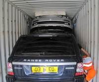 How many Range Rovers can thieves fit in a container?