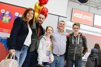 Shayne Ward surprises family at Manchester Airport