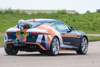 Jaguar F-Type performs parachute test for Bloodhound SSC record attempt