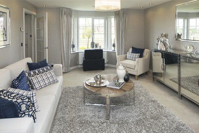 The Newly Decorated Living Room In Shelford Showhome