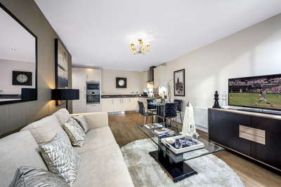 An Example Of The Open Plan Layouts In New Redrow Apartments