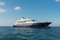 MV Origin launches in Galapagos Islands, Ecuador