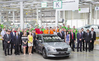Jubilee: 100,000 third-generations Skoda Superbs produced