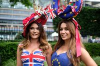 EU referendum-inspired dresses spotted at Royal Ascot