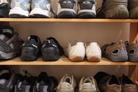 Britain's unworn shoes could stretch around the world