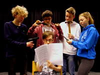 Budding young playwright sees first play performed