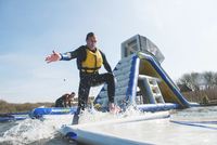 Cornwall's largest inflatable Aqua Park opens with a splash