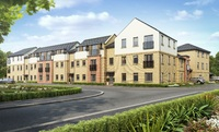 An artist's impression of the apartments at Taylor Wimpey's Saxon Fields development in Biggleswade.