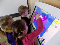 Nursery children welcome interactive Tablet Tables