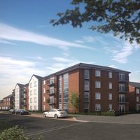 Computer-generated artist's impression showing new apartments at The Mill.