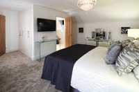 Dual master bedrooms in Elan homes at The Larches, Wilmslow